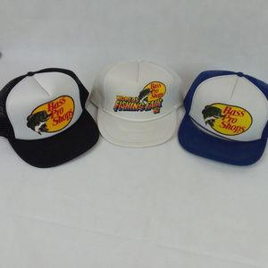 09644686 Bass Pro Shops Vintage Trucker Mesh Hats NWT